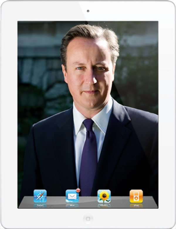 david cameron british prime minister custom ipad app uk