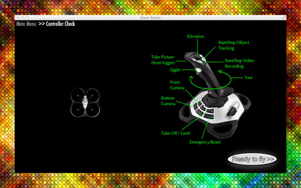 parrot ar mac drone station control remote game controller app