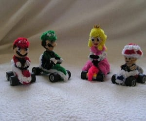 Mario Kart Characters Made from Non-Warp-Pipe-Cleaners