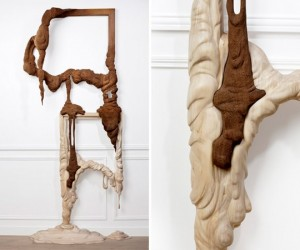 Melting Wooden Sculptures: Who's Gonna Clean Up This Mess?