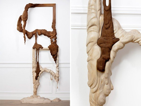 Melting Wooden Art