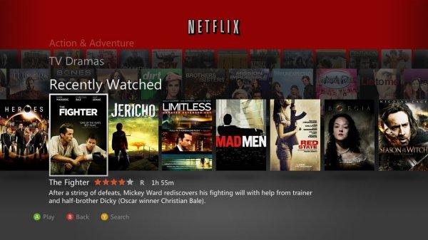 Netflix XBox 360
