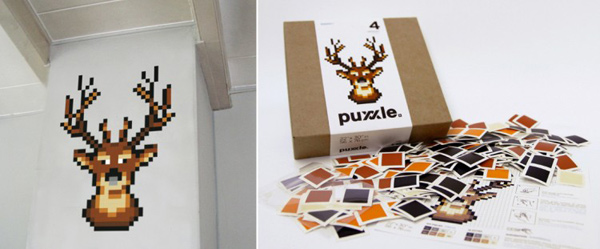 puxxle puzzle pixel pieces fun decoration home