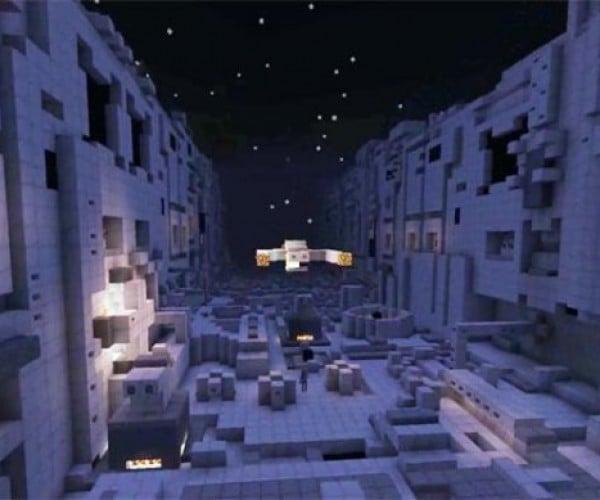 Star Wars Death Star Trench Run Recreated in Minecraft