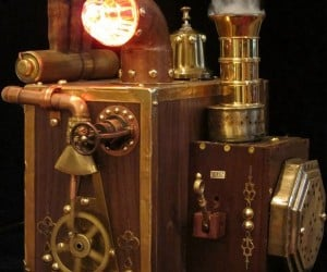 Steampunk External Hard Drive Enclosure is Big, Brassy and Expensive