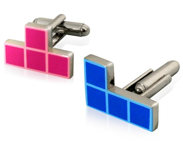 Tetris Cufflinks Geek Up Your Formalwear