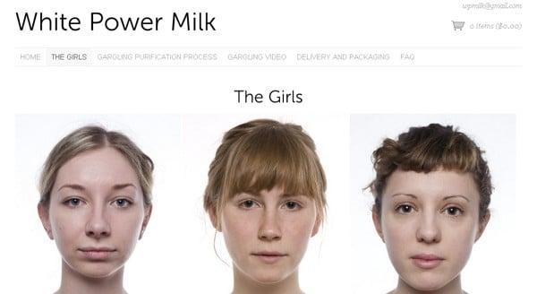 White Power Gargled Milk Website