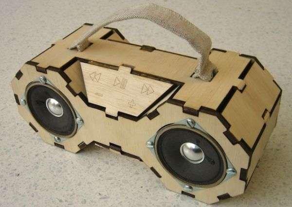 Wood-Boombox