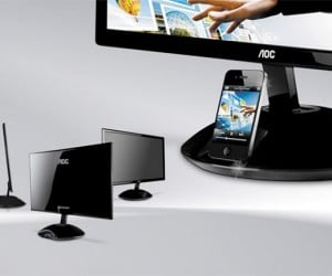 AOC Monitor Gets Built-in iOS Dock, Enlarges iPhones Instantly