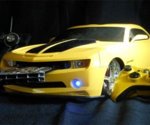 Transformers Bumblebee Xbox 360 Slim Casemod is More than Meets the Eye