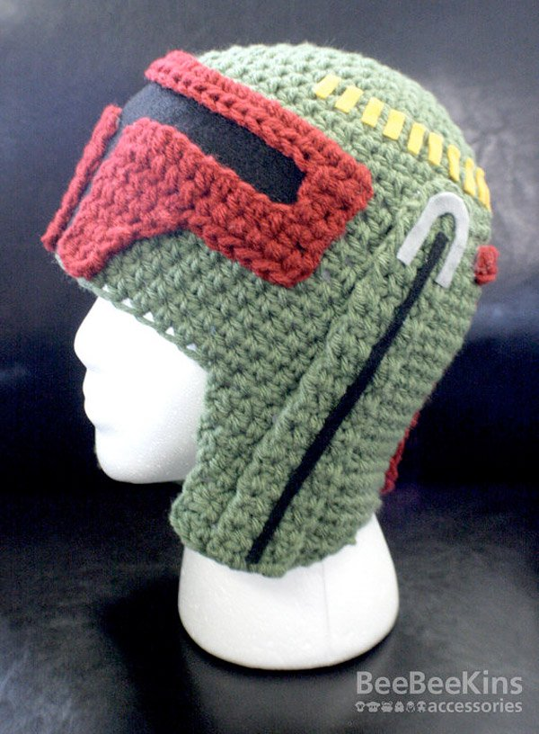 boba fett crocheted hat 2