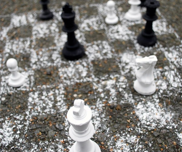 Chalk Chess: Don't Crack the King in Half!