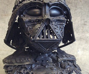 Amazing Darth Vader Sculpture Made from Grandma's Old Cutlery
