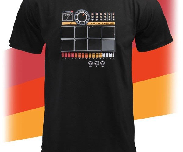 ThinkGeek Electronic Drum Machine Shirt Lets You Kick out the Beats Anywhere