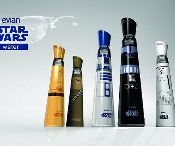 Evian Star Wars Bottles: Drink the Force