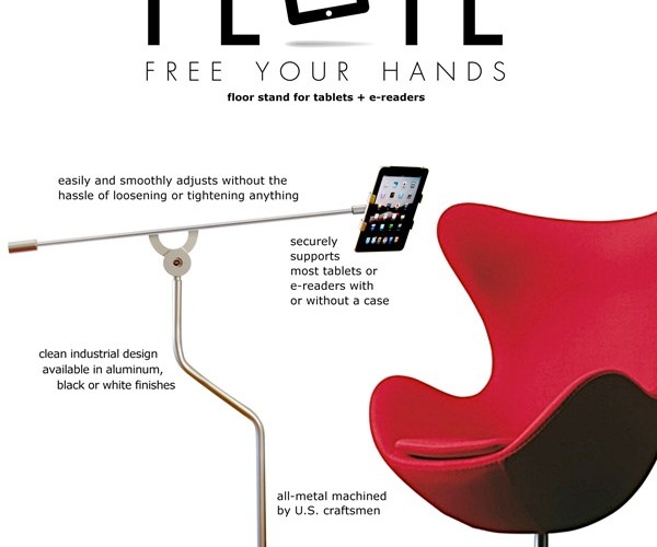 FLOTE Stand Makes Tablet Usage Hands-Free, Looks Cool Doing It