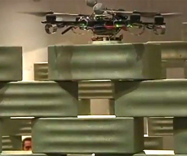 Quadrotors Build a Building