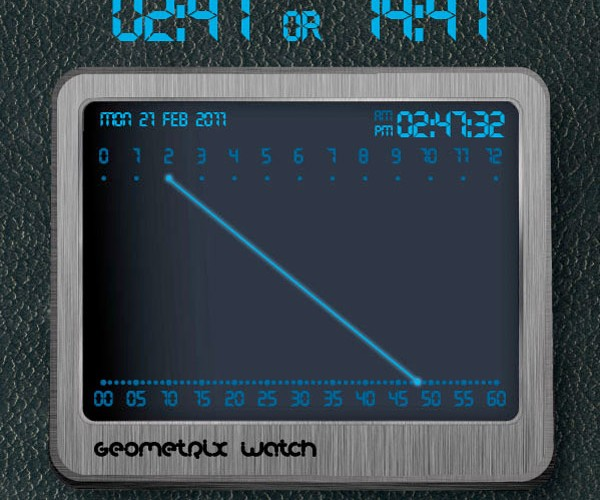 Geometrix Watch Concept: Time for Lines