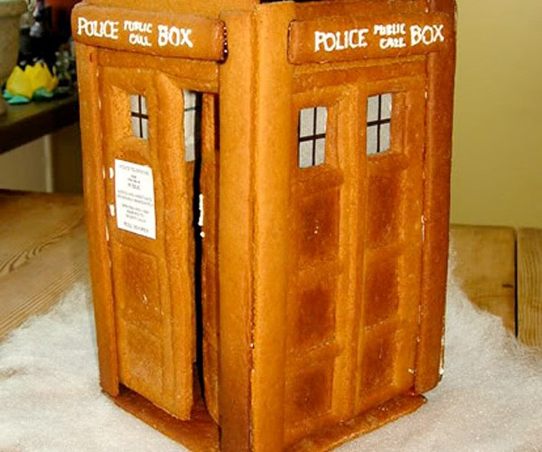 Gingerbread TARDIS: I Hope Your Stomach is Bigger on the Inside