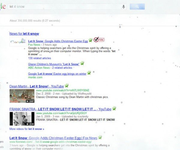 Google Lets it Snow in Your Web Browser