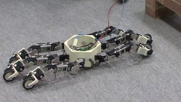 hexapod robot on wheels