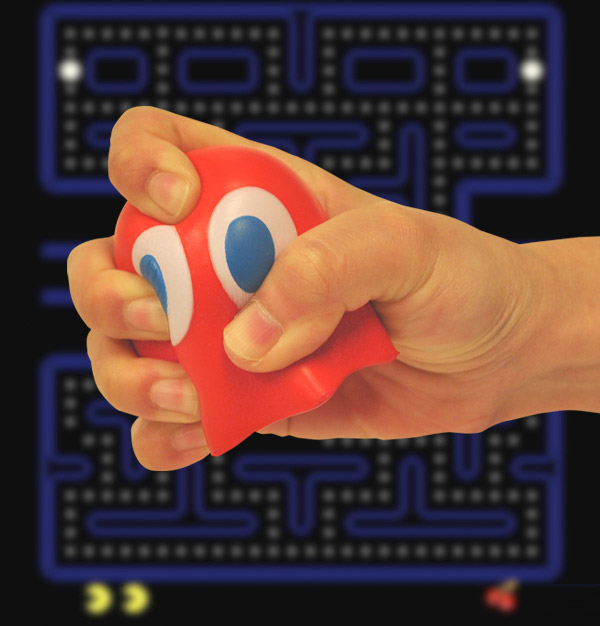 pac man ghost stress ball blinky