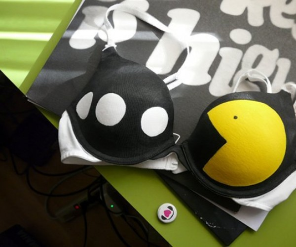 Glow-in-the-Dark Pac-Man Bra: Nice Power Pellets There