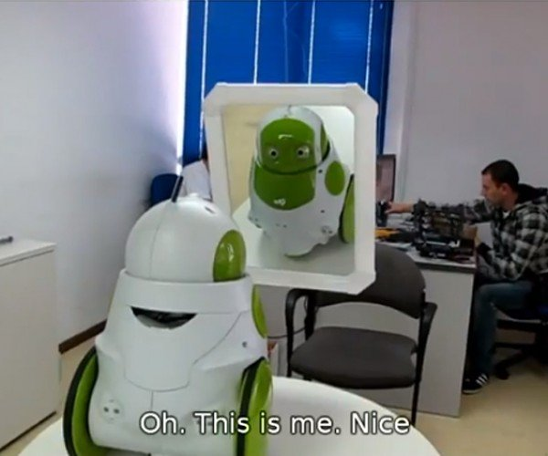 Robot Learns to Recognize Its Own Reflection, Has Great Grasp of Pronouns Too