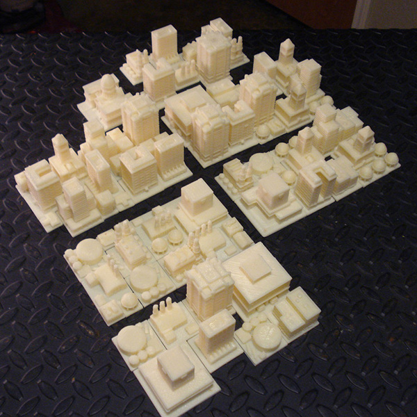 simcity 2000 tabletop play set by skimbal
