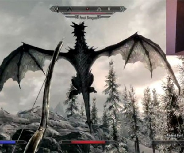 Skyrim Hacked to Work with Kinect for PC