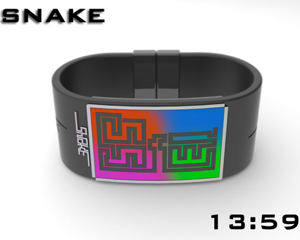 snake watch 2 Snake Watch Gives Your Wrist a Case of Tapeworm