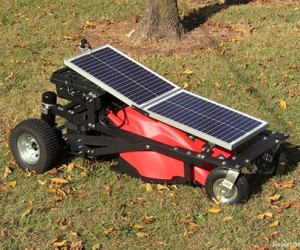 Solar-Powered Remote Control Lawn Mower: Lawnba