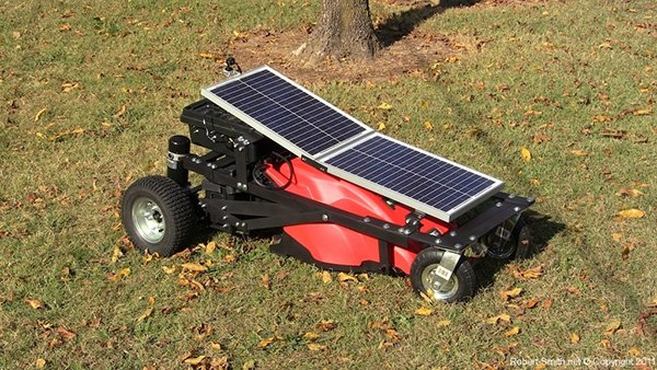 solar powered remote control electric lawn mower by robert smith