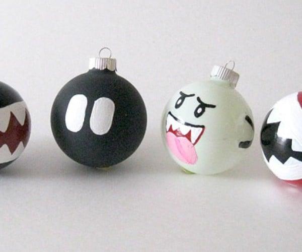 Mario Enemy Xmas Ornaments: Fa-la-la-la… CHOMP! BOOM! BOO!