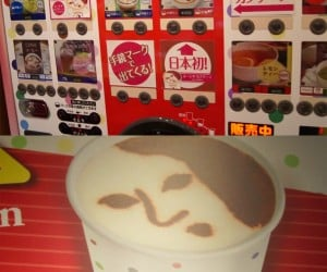 Japanese Vending Machine Makes a Face in Your Cappuccino