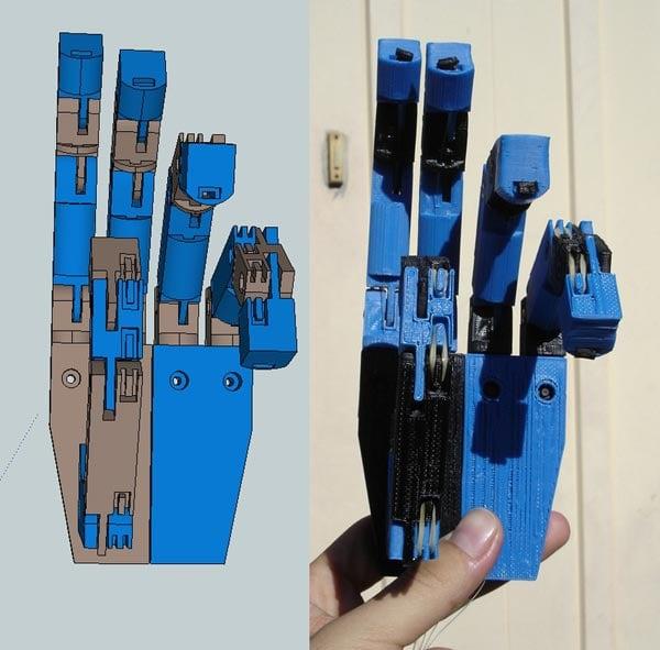 3D Printed Robot Hand Terminator 01