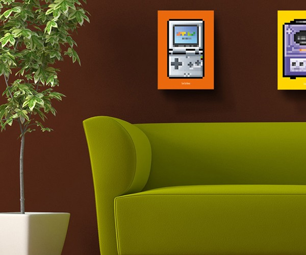 8 bit series video game console posters by biscotto cotto 10