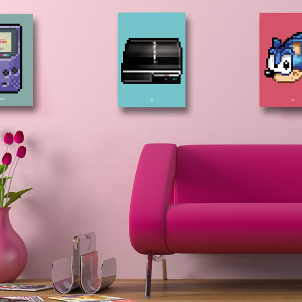 8 Bit Series Video Game Console Posters By Biscotto Cotto 3
