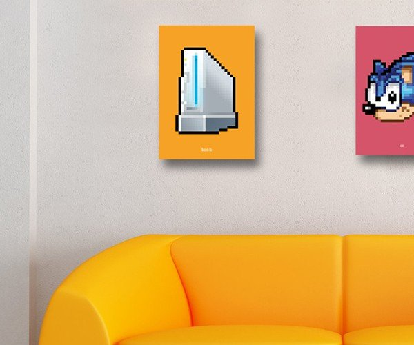 8 bit series video game console posters by biscotto cotto 4