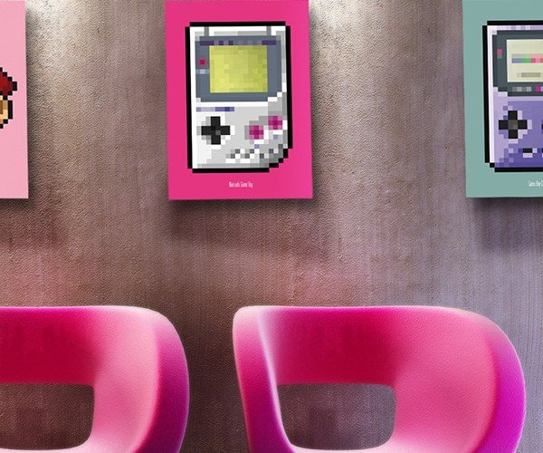 8 bit series video game console posters by biscotto cotto 5