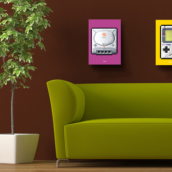8 Bit Series Video Game Console Posters By Biscotto Cotto 6