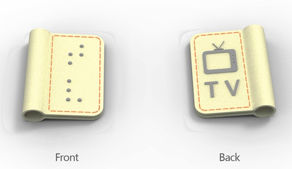 Braille Electric Plug Tags