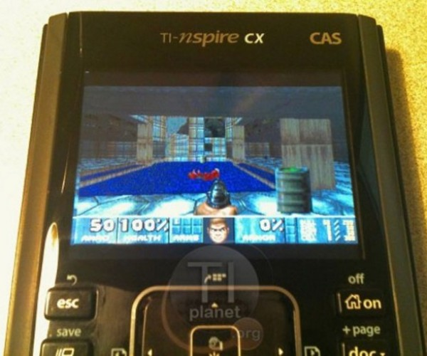 Doom Plays on Calculators, Now in Color