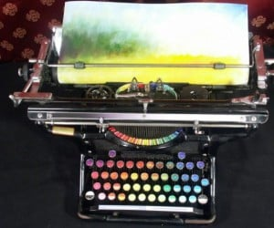 Chromatic Typewriter Lets You QWERTY Up Some Paintings