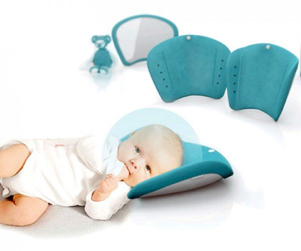 Cocoon Pillow Shields Tots from Dirt and Noise