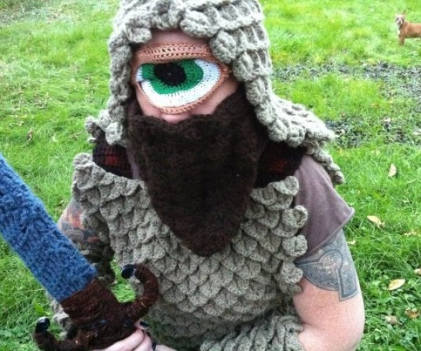 Crocheted Cyclops Costume Is Keeping an Eye on You
