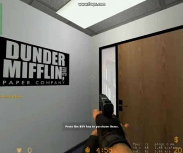 Dunder Mifflin Office Now a Counter Strike Source Map