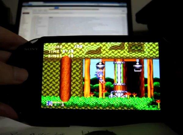 PS Vita plays Sonic