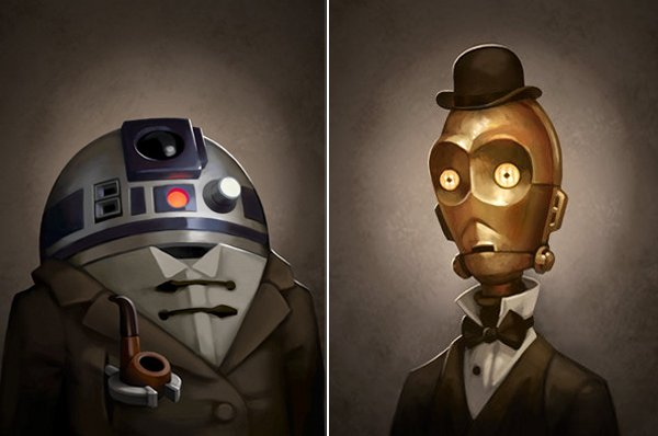 R2-D2 and C-3PO: 19th Century Droids