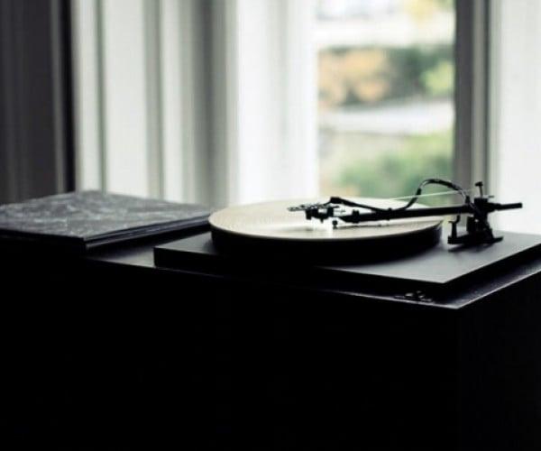 Record Player Plays Wood, Not Vinyl